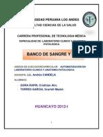 Monografia de Banco de Sangre