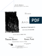 Faure - Hymne Apollon Voice and Piano