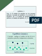 Clase Cap 3.1 Equilibrio Q - Conceptos