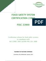 Schema de Certificare FSSC 22000
