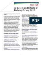 Key Findings-Extent and Effects of Workplace Bullying, 2010 [2 Pages]