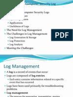 Log management presentation.