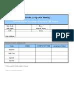 TI Provisional Acceptance Check List-(LTE) V2