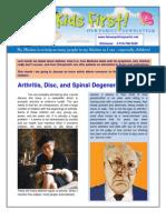 Arthritis Discand Spinal Degeneration August 2013
