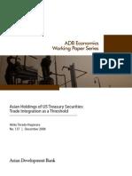Asian Holdings of US Treasury Securities