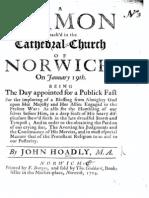 Hoadly_Fast Day Sermon 1704
