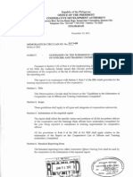 MC2011-26-Guidelines on the Submission of Cooperative List of Officers and Training Undertaken