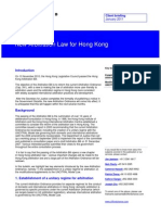 Client Briefing New Arbitration Law for Hong Kong January 2011 6010181