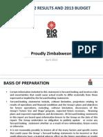 RioZim FY Results 2012 Presentation