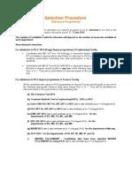 RP Selection Procedure