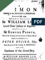 William Broome - Assizes Sermon 1737