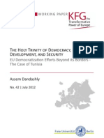 The Holy Trinity of Democracy, Economic Development, and Security. EU Democratization Efforts Beyond its Borders - The Case of Tunisia
