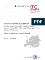 Europeanization Subverted? The European Union's Promotion of Good Governance and the Fight against Corruption in the Southern CaucasusEuropäische Identität
