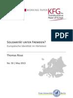 Solidarität unter Fremden? Europäische Identität im Härtetest
