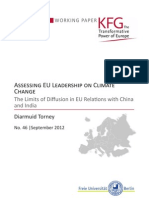 Assessing EU Leadership on Climate Change. The Limits of Diffusion in EU Relations with China and India