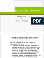 Risk Appetite and Risk Tolerance