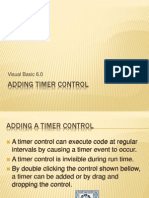 Adding Timer Control in visual basic