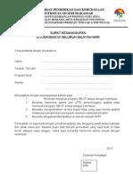 Surat Kesanggupan Ditugaskan Diwilayah NKRI SM-3T 2013