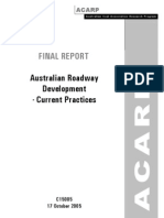 Australian Roadway Development Current Practices - ACARP