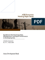Equilibrium Real Exchange Rate, Misalignment, and Export Performance in Developing Asia