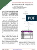 Design of High Performance CPU Datapath Unit