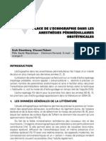 Imagerie pratique en échographie - place de l'échographie dans les ansthésies périmédullaires obstétricales