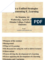 Towards Unified Strategy for Implementing E_LearningE-Learning
