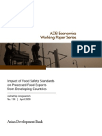 Impact of Food Safety Standards on Processed Food Exports from Developing Countries
