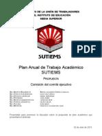 Propuesta Tentativa de Plan Académico SUTIEMS -32PATS