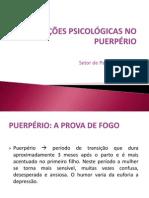 Alterações psicológicas no puerpério