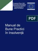 Manual de Bune Practici în insolvenţă