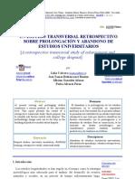 UN ESTUDIO TRANSVERSAL RETROSPECTIVO SOBRE PROLONGACIÓN Y ABANDONO DE ESTUDIOS UNIVERSITARIOS.pdf