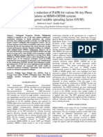 Improvement in the reduction of PAPR for various M-Ary Phase modulations in MIMO-OFDM systems using Orthogonal variable spreading factor (OVSF)