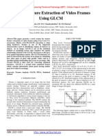 Texture Feature Extraction of Video Frames Using GLCM