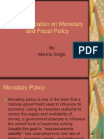 Monetory Poilicy and Fiscal Policy