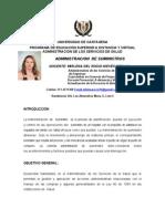 PLAN TUTORIAL ADMINISTRACIÓN DE SUMINISTROS