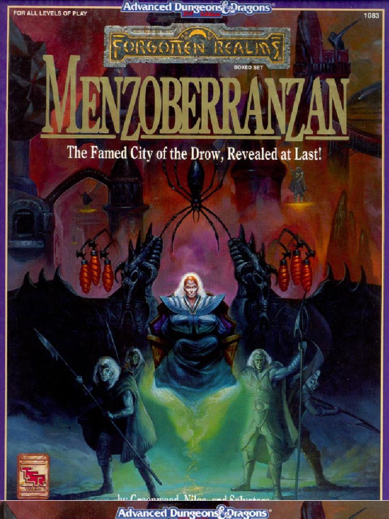 TSR 1083 - Menzoberranzan | Drow (Dungeons & Dragons) | Dungeons