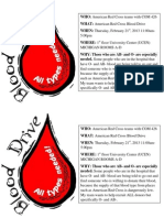 american red cross flyer