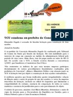 TCU condena ex-prefeito de Conceição