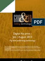 Pig feed pelletizing technology