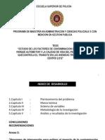 Estudio de Los Factores de Contaminacion Generada Por El Parque Automotor y La Calidad Del Aire
