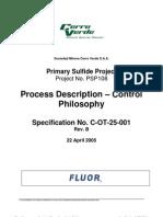 c Ot 25 001_rev B_process Description Control Philosophy
