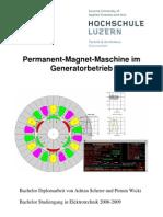 Permanent Magnet Maschine Im Generatorbetrieb HSLU