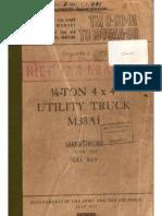 TM 9-804A M38A1 JEEP, JULY 1952