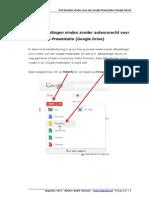 Afbeelding plaatsen in Google Presentaties