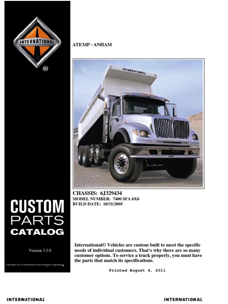 International 7400 Parts Manual 2006 | Axle | Transmission (Mechanics)