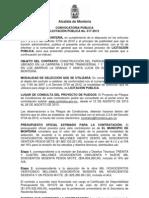 Convocatoria LP 017 2013