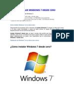 Como Instalar Windows 7 Desde Cero