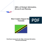 Peace Corps Host Country Impact Study Tanzania