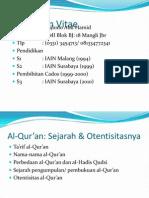 Sejarah & Otentisitas Al-qur'An